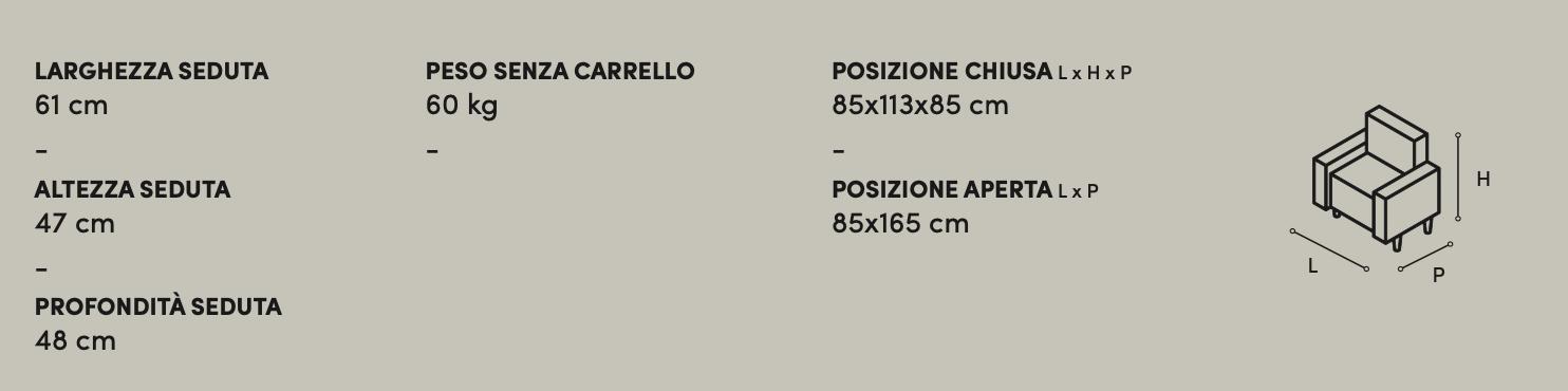 Poltrona Relax Big Terry Zaggia Salotti - misure