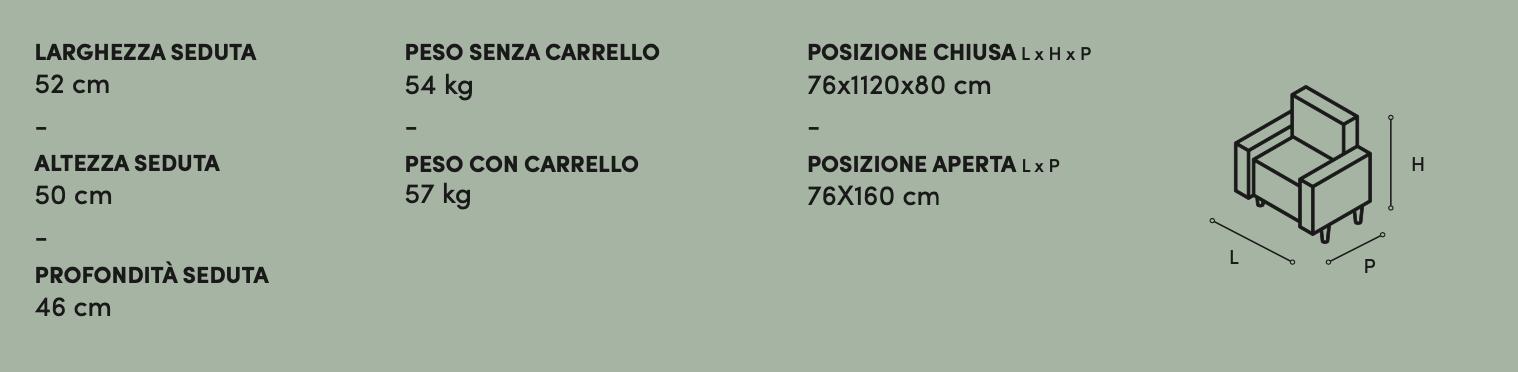 Poltrona Relax Amy Zaggia Salotti - misure